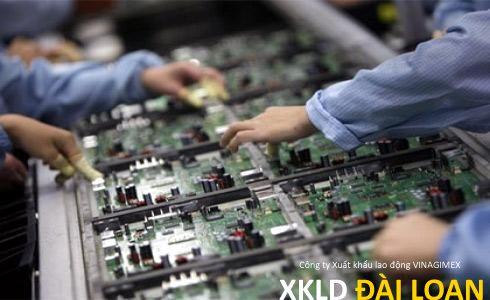 Đơn hàng xuất khẩu lao động Đài Loan tuyển 20 nữ làm bảng mạch điện tử ở Đào viên